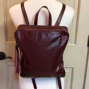Latico USA Burgundy Leather Backpack